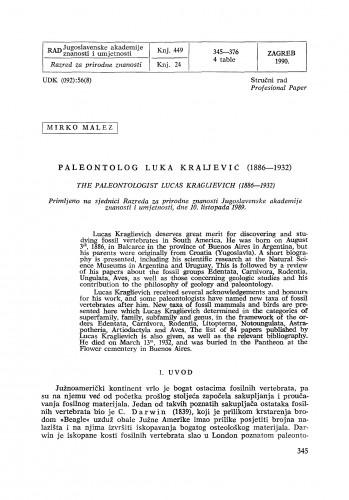 Paleontolog Luka Kraljević