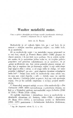 Wundtov metafizički sustav