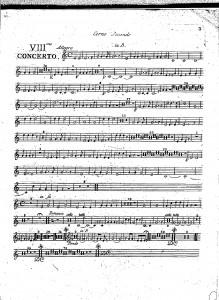 VIIIme concerto : corno secondo in B