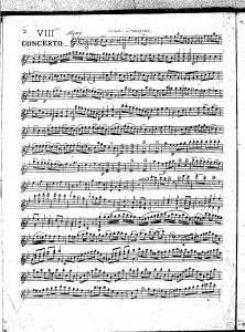 VIIIme concerto : violino principale