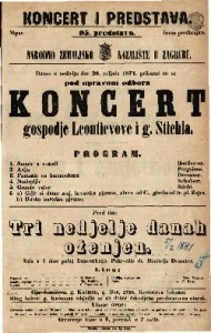 Koncert gospodje Leontievove i g. Stiehla