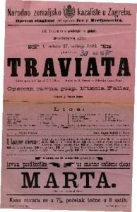 Traviata Velika opera u 3 čina / Glasba od G. Verdi-a