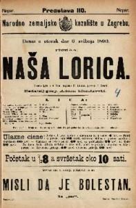 Naša Lorica Vesela igra u 4 čina / napisao P. Lindau