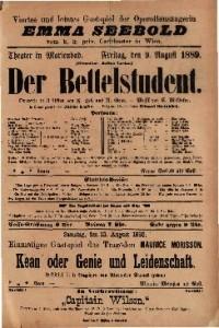 Der Bettelstudent Operette in 3 Akten / Musik von H. Millocker