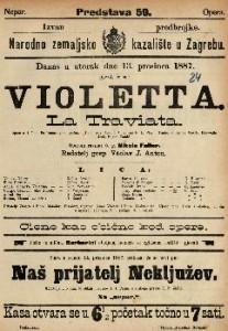 Violetta Opera u 3 čina / Glasba od Josipa Verdia