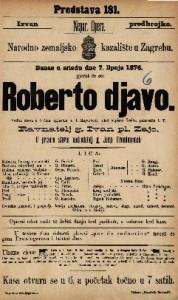 Roberto djavo velika opera u 5 čina / uglasbio ju J. Meyerbeer