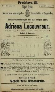 Adriena Lecouvreur drama u 5 činah / po Scribe-u i Legouve-u napisao Heinrich Grans