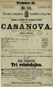 Casanova vesela igra u 3 čina / napisao Lebrun