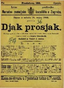 Djak prosjak Komična opereta u 3 čina / od Millöckera