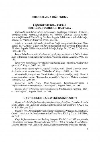 Bibliografija Jože Skoka : Radovi Zavoda za znanstveni rad Varaždin