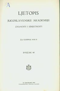 Za godinu 1930/31. Sv. 44 : Ljetopis
