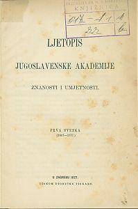 Sv. 1 (1867-1877) : Ljetopis