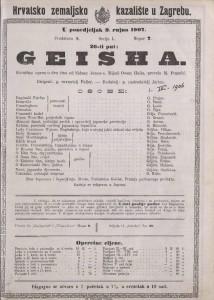 Geisha komična opera u dva čina