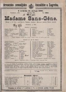 Madame Sans-Gêne gluma u tri čina s predigrom / Napisali Sardou i Moreau