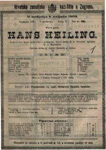 Hans Heiling romantična opera u tri čina s predigrom / uglazbio H. A. Marschner