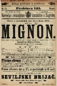 Mignon Lirična opera u 4 čina / Uglazbio A. Thomas