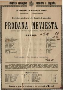 Prodana nevjesta komična opera u tri čina / glazba od Smetane