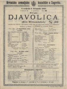 Djavolica lokalizovana lakrdija s pjevanjem u četiri slike / glazba od C. Millöckera  =  Ein Blitzmädel