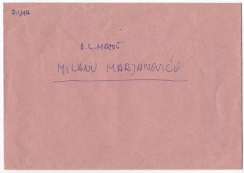 Korespondencija upućena Milanu Marjanoviću