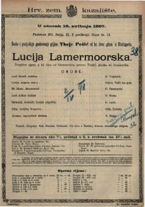 Lucija Lamermoorska tragična opera u tri čina / glazba od Donizzettia