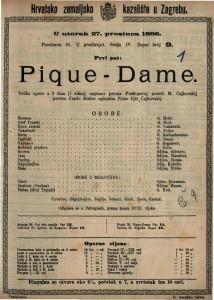 Pique-Dame Velika opera u 3 (7 slika) / uglazbio Petar Iljič Čajkovskij