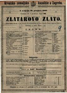 Zlatarovo zlato : historijska drama u pet činova / po istoimenom romanu Augusta Šenoe napisao Dežman Ivanov