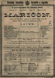 Maričon : opera u tri čina / uglazbio Srećko Albini