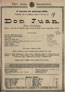 Don Juan Opera u dva čina / od Mozarta
