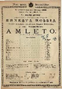 Amleto Tragedia in 5 atti / di W. Shakespeare
