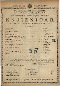 Knjižničar Vesela igra u 4 čina / Napisao Gustav pl. Mozer