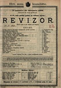 Revizor Šaljiva igra u pet činova / od Gogolja