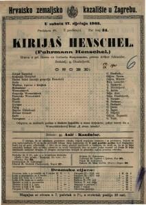 Kirijaš Henschel gluma u pet činova / od Gerharta Hauptmanna  =  Fuhrmann Henschel