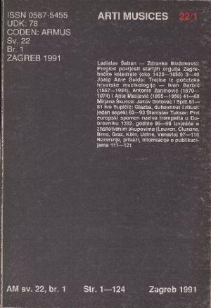 God. 22(1991), br. 1 : Arti musices