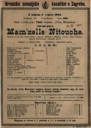Mam'zelle Nitouche opereta u tri čina (četiri slike) / napisali Meilhac i Millaud
