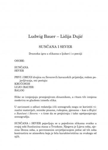 Sunčana i Sever : dramska igra u slikama o ljubavi i o poeziji : Forum : mjesečnik Razreda za književnost Hrvatske akademije znanosti i umjetnosti.
