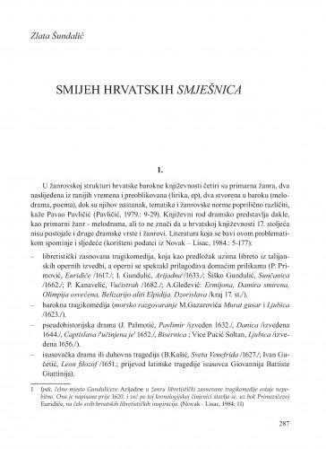 Smijeh hrvatskih smješnica : Krležini dani u Osijeku