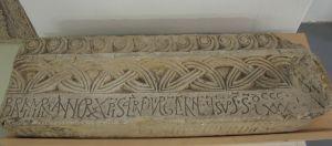 Fragment grede s natpisom kneza Branimira klesarska radionica iz doba kneza Branimira