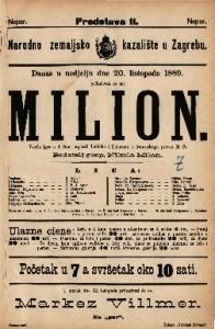 Milion Vesela igra u 4 čina / napisali Labiche i Delacour