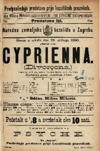 Cyprienna Vesela igra u 3 čina / napisao Victorien Sardou  =  Divorçons