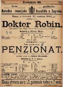 Penzionat : Komična opereta u 2 čina / Glasba od Franje pl. Suppe-a