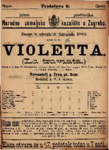 Violetta Opera u 3 čina / Glasba od J. Verdia