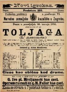 Toljaga : Parižki pučki igrokaz u 5 čina (9 slikah) / napisali Villiam Busnach i Octave Gastineau  =  L' Assomoir