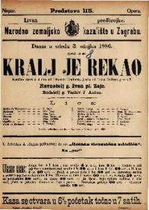Kralj je rekao Komična opera u 3 čina / glasba od Leona Delibesa