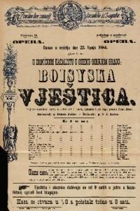 Boisyska vještica Šaljivo-romantična opera u 3 čina / uglasbio I. pl. Zajc