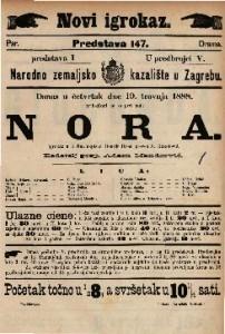 Nora Igrokaz u 3 čina / napisao Henrik Ibsen