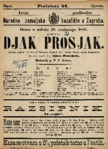Djak prosjak Komična opereta u 3 čina / od Milöckera