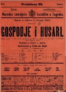 Gospodje i husari Šaljiva opera u 3 čina / Glasba Ivana pl. Zajca