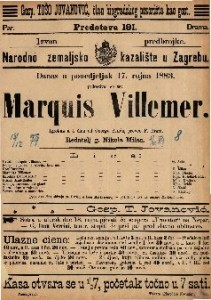 Marquis Villemer Igrokaz u 4 čina / od George Sanda