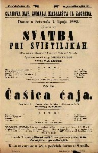 Svatba pri svietiljkah Šaljiva opereta u 1 činu / Glasba od J. Offenbacha