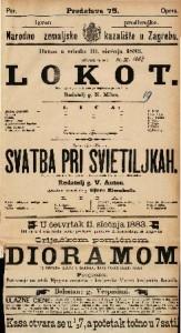 Lokot Šala s pjevanjem u 1. činu